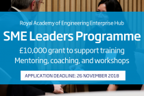 Applications for the Royal Academy of Engineering SME Leaders Programme open now