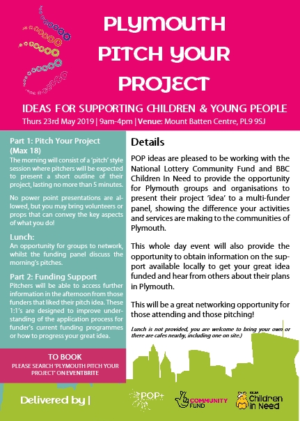 POP| Plymouth Pitch your Project - Ideas for Supporting Children and Young People