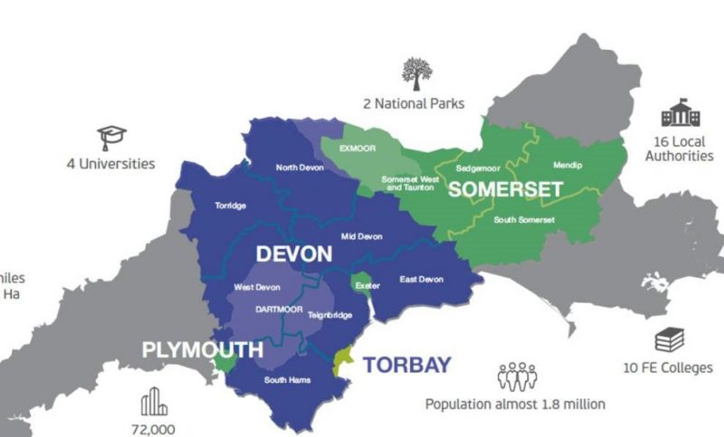Heart of the SW LEP area map